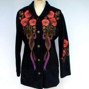 Bob Mackie Wearable Art blazer jacket sweater